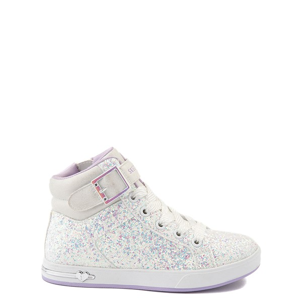 Skechers Shoutouts Sparkle On Top Sneaker - Little Kid - White
