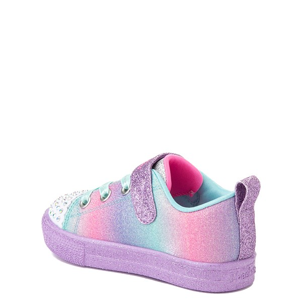 alternate view Skechers Twinkle Toes Shuffle Lites Lil Heartbursts Sneaker - Toddler - Lavender / MulticolorALT1B