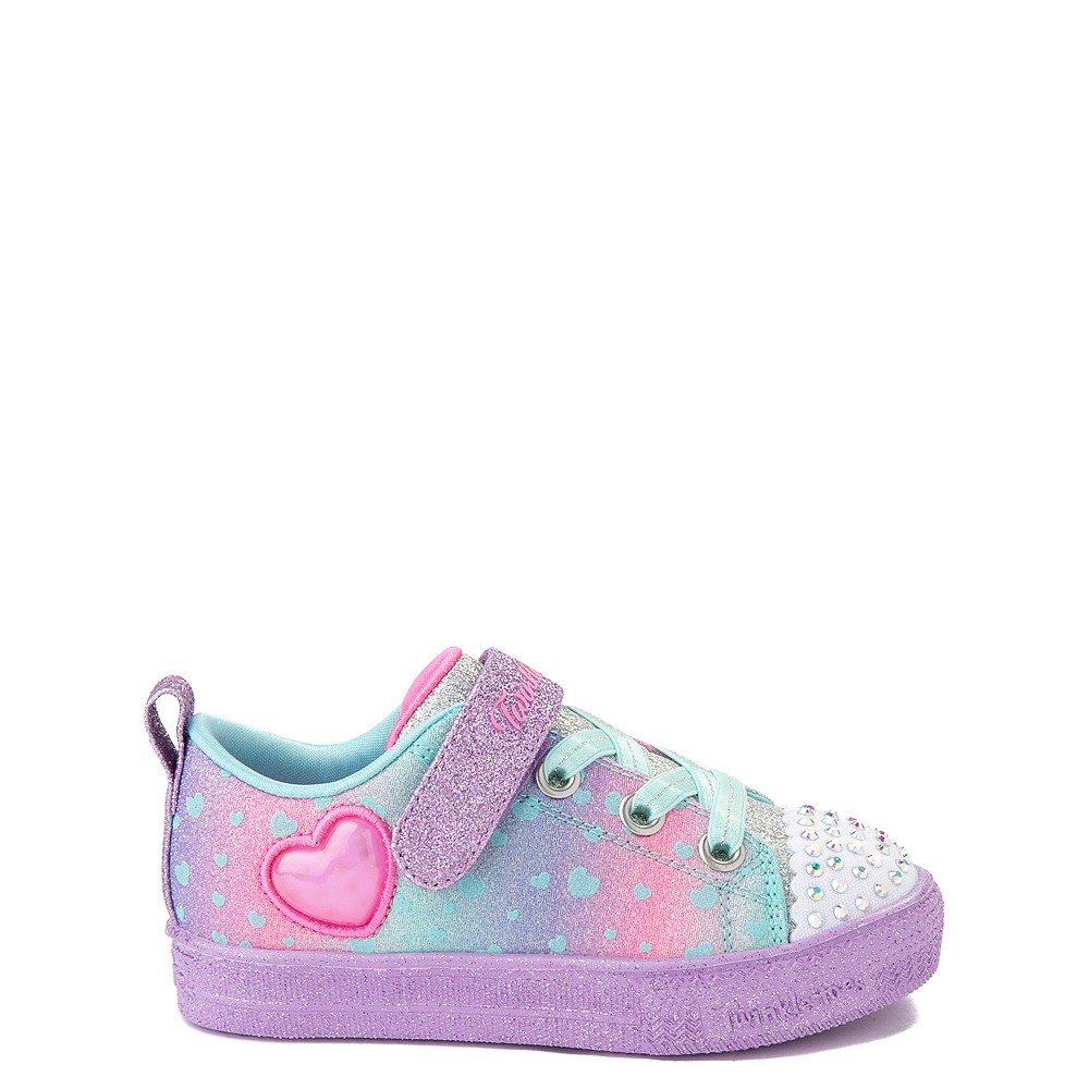 Skechers Twinkle Toes Shuffle Lites Lil Heartbursts Sneaker - Toddler - Lavender / Multicolor