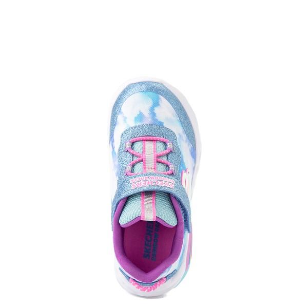 alternate view Skechers Rainbow Racer Sneaker - Toddler - SkyALT2
