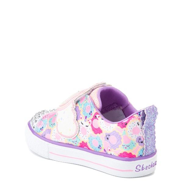alternate view Skechers Twinkle Toes Shuffle Lites Sparkle Treats Sneaker - Toddler / Little Kid - Light Pink / MulticolorALT1B