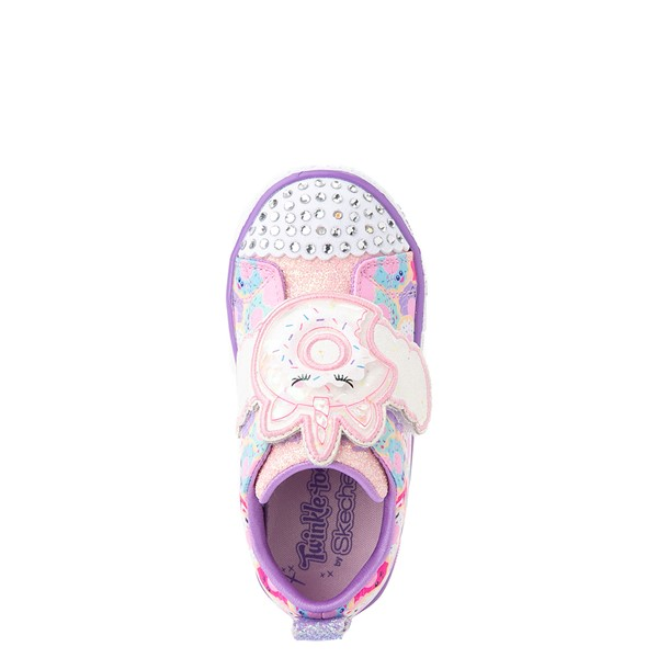 alternate view Skechers Twinkle Toes Shuffle Lites Sparkle Treats Sneaker - Toddler / Little Kid - Light Pink / MulticolorALT2