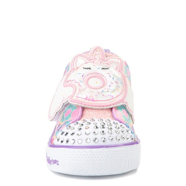 alternate view Skechers Twinkle Toes Shuffle Lites Sparkle Treats Sneaker - Toddler / Little Kid - Light Pink / MulticolorALT4
