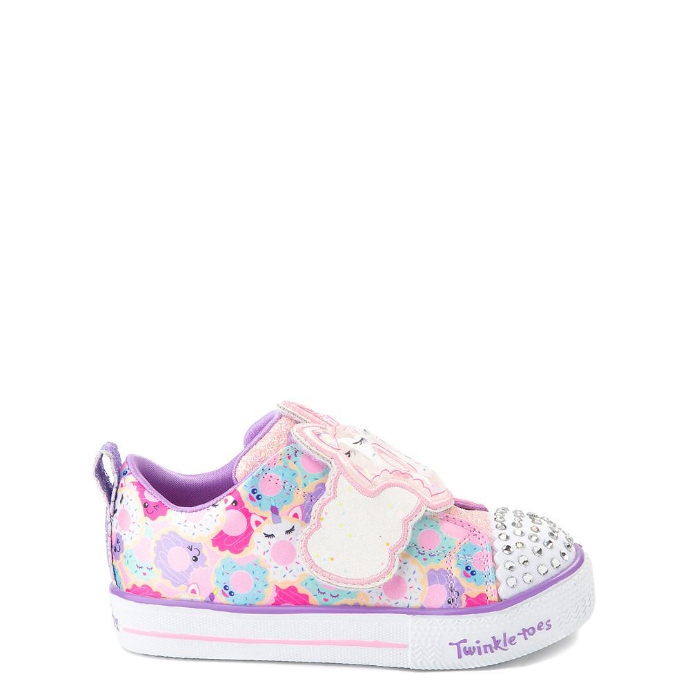 Skechers Twinkle Toes Shuffle Lites Sparkle Treats Sneaker - Toddler / Little Kid - Light Pink / Multicolor