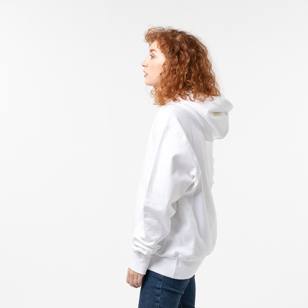 alternate view Womens Champion Reverse Weave Boyfriend Hoodie - WhiteALT3