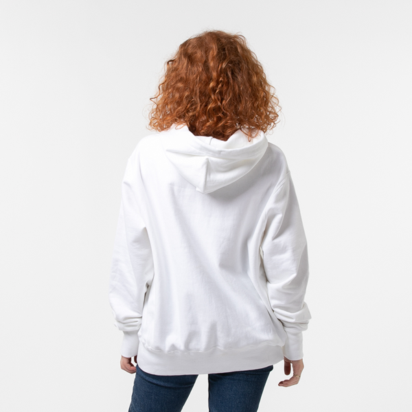 alternate view Womens Champion Reverse Weave Boyfriend Hoodie - WhiteALT4