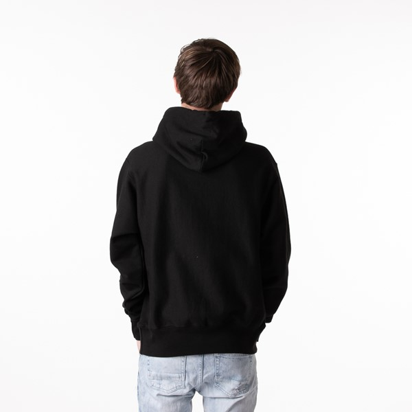 alternate view Mens Champion Reverse Weave Hoodie - BlackALT2