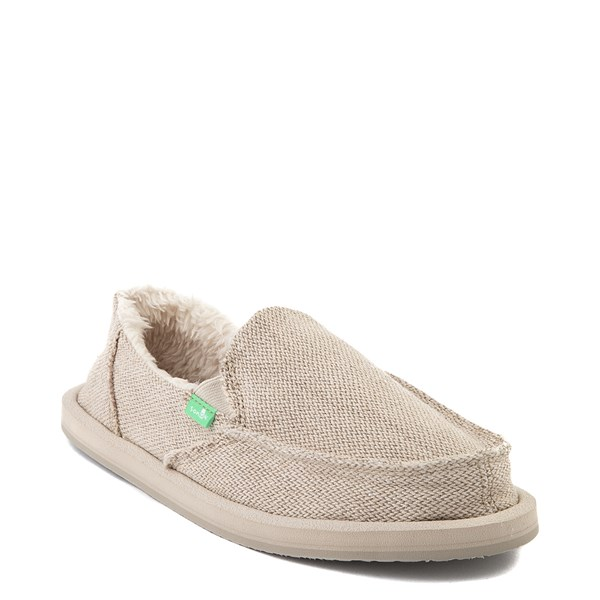 Alternate view of Womens Sanuk Donna Hemp Chill Slip On Casual Shoe - Natural
