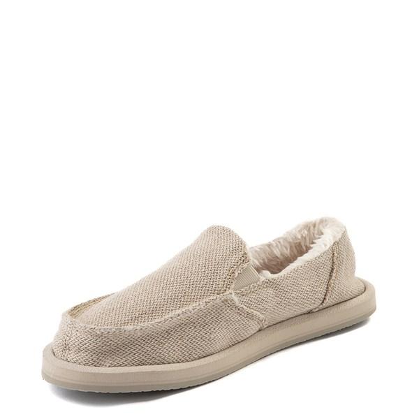 alternate view Womens Sanuk Donna Hemp Chill Slip On Casual Shoe - NaturalALT3