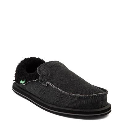 Alternate view of Womens Sanuk Chiba Chill Slip On Casual Shoe - Black