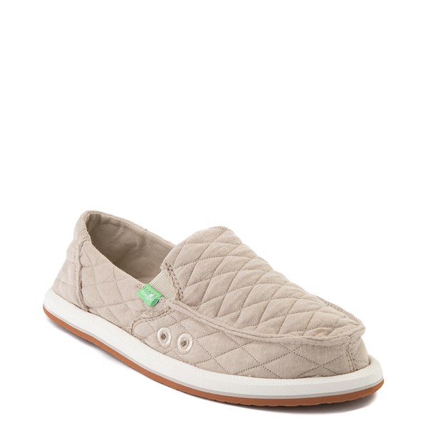 alternate view Womens Sanuk Donna Quilt Slip On Casual Shoe - TanALT1
