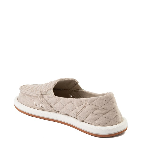 alternate view Womens Sanuk Donna Quilt Slip On Casual Shoe - TanALT2