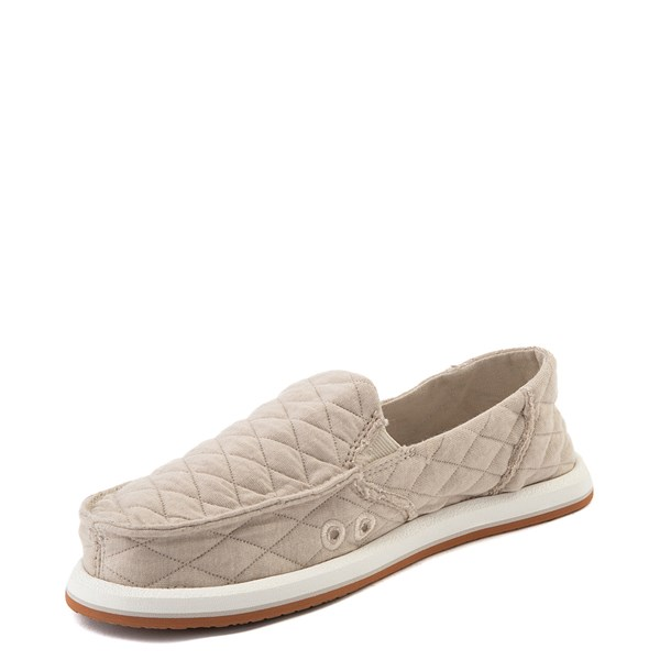 alternate view Womens Sanuk Donna Quilt Slip On Casual Shoe - TanALT3