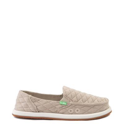 Main view of Womens Sanuk Donna Quilt Slip On Casual Shoe - Tan