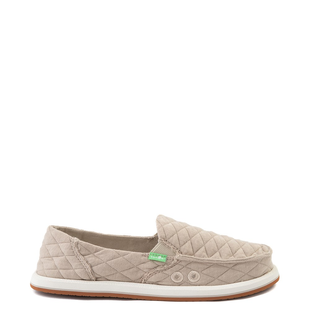 Womens Sanuk Donna Quilt Slip On Casual Shoe - Tan
