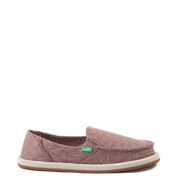 Womens Sanuk Donna Quilt Slip On Casual Shoe - Woodrose