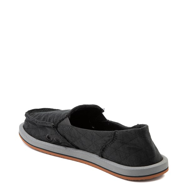 alternate view Womens Sanuk Donna Quilt Slip On Casual Shoe - Dark CharcoalALT2