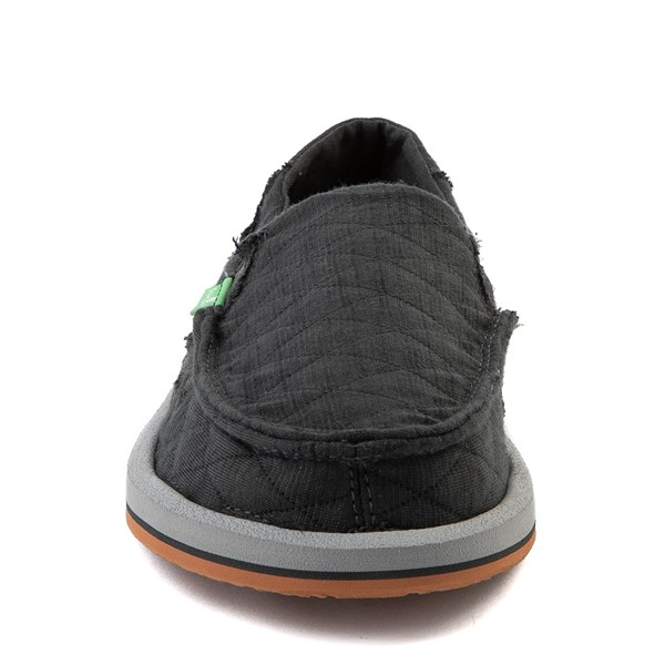 alternate view Womens Sanuk Donna Quilt Slip On Casual Shoe - Dark CharcoalALT4