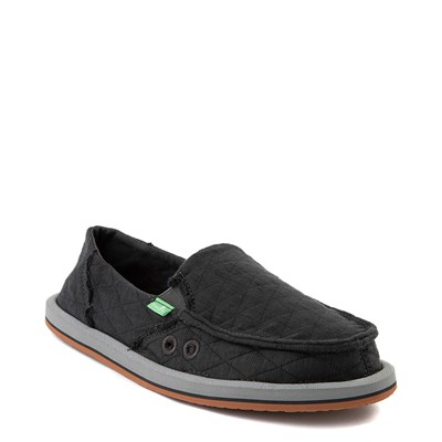 Alternate view of Womens Sanuk Donna Quilt Slip On Casual Shoe - Dark Charcoal