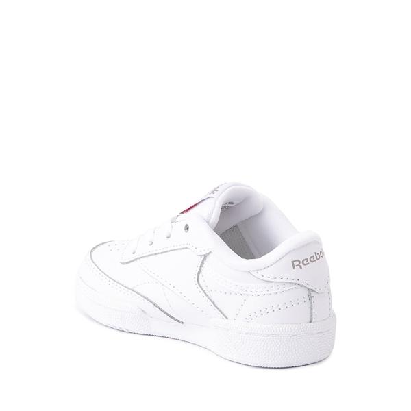 alternate view Reebok Club C Athletic Shoe - Baby / Toddler - White MonochromeALT1