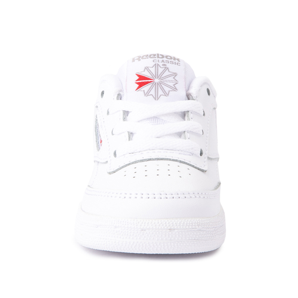 alternate view Reebok Club C Athletic Shoe - Baby / Toddler - White MonochromeALT4
