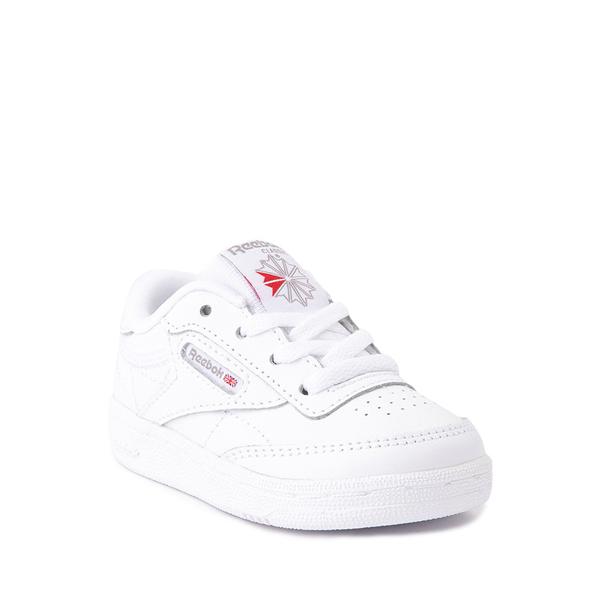 alternate view Reebok Club C Athletic Shoe - Baby / Toddler - White MonochromeALT5
