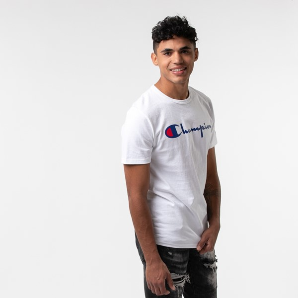 alternate view Mens Champion Heritage Tee - WhiteALT3