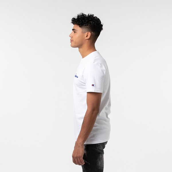 alternate view Mens Champion Heritage Tee - WhiteALT4