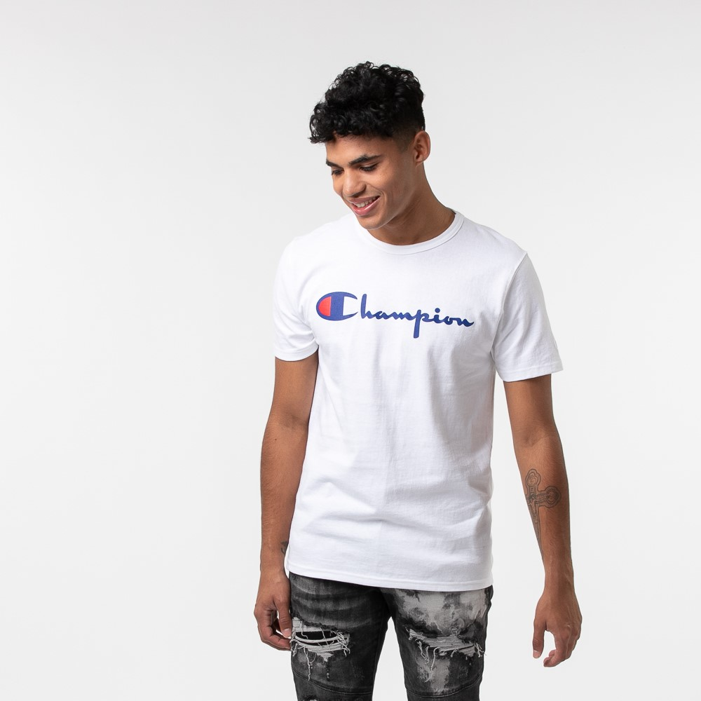 Mens Champion Heritage Tee - White