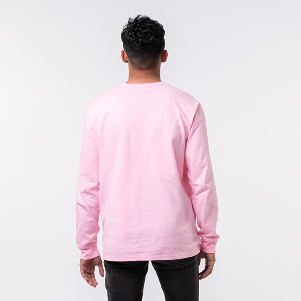 alternate view Mens Champion Heritage Long Sleeve Tee - Pink CandyALT1