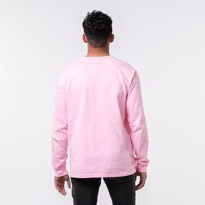 Alternate view of Mens Champion Heritage Long Sleeve Tee - Pink Candy