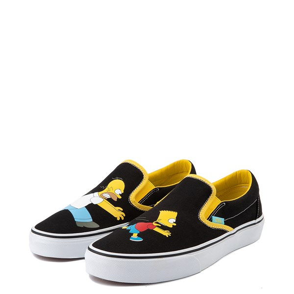 alternate view Vans x The Simpsons Slip On Homer and Bart Skate Shoe - BlackALT3