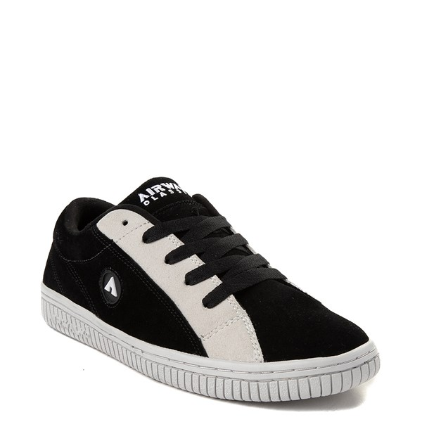 alternate view Mens Airwalk The Random Skate Shoe - Black / WhiteALT1