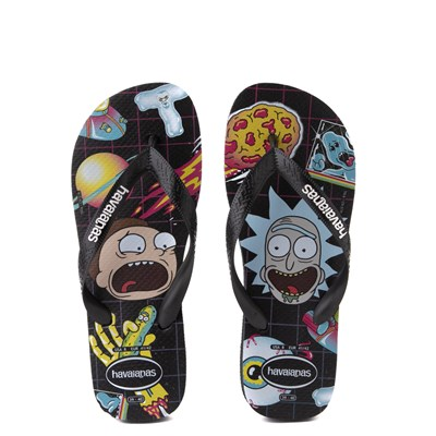 Main view of Havaianas Rick and Morty Top Sandal - Black
