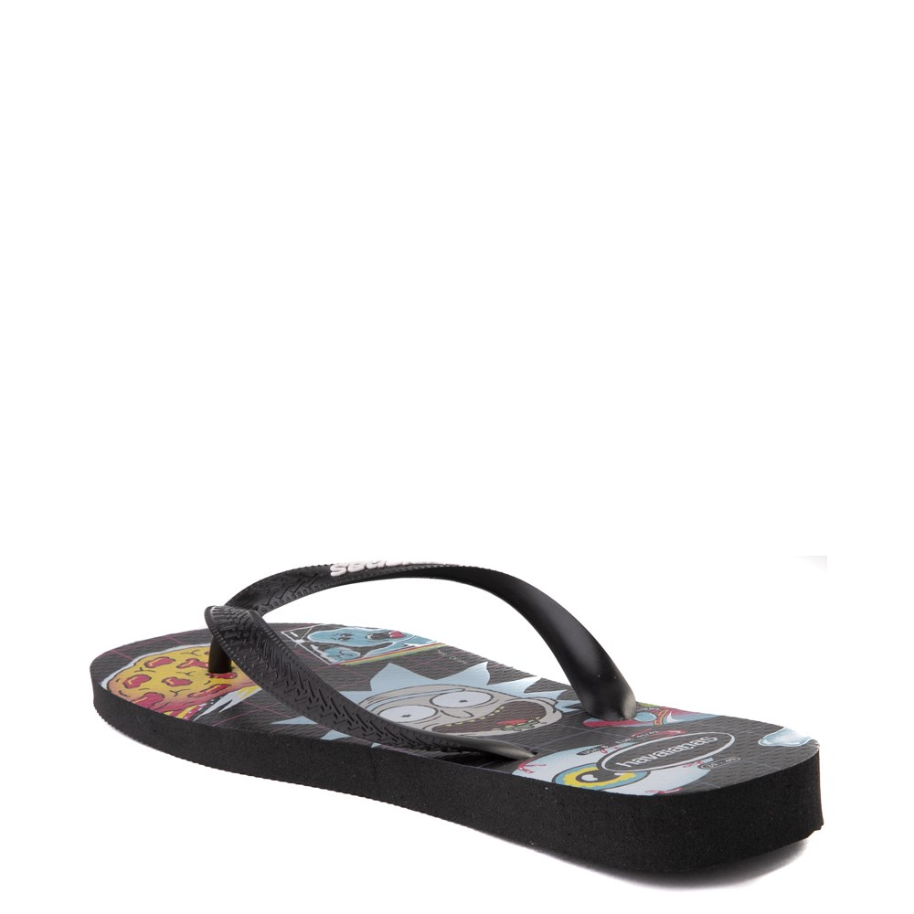 Havaianas Rick and Morty Top Sandal Black