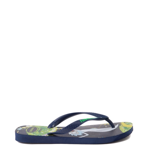 alternate view Havaianas Rick and Morty Top Sandal - NavyALT1