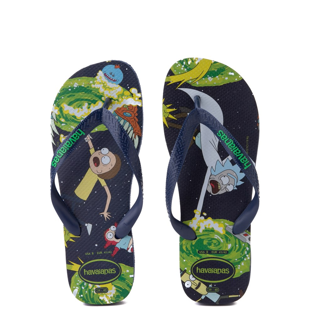 Havaianas Rick and Morty Top Sandal - Navy