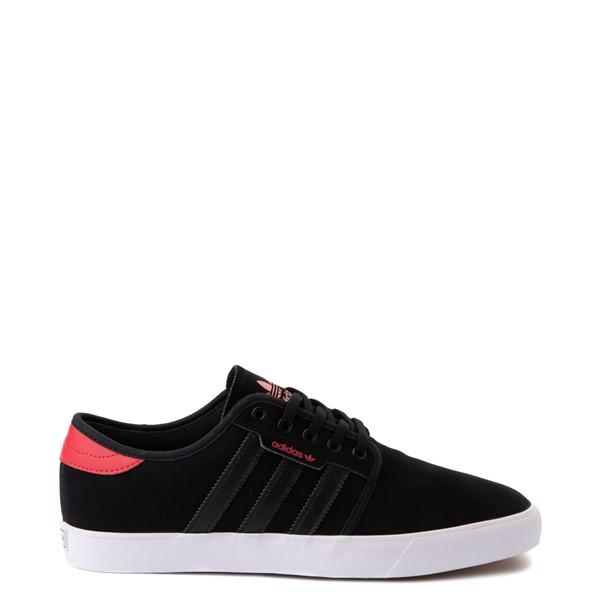 Mens adidas Seeley Skate Shoe - Black / Red
