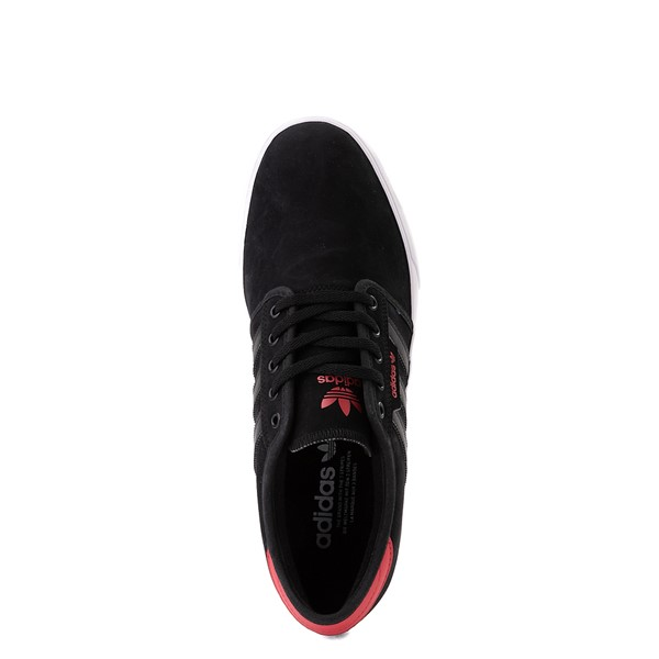 alternate view Mens adidas Seeley Skate Shoe - Black / RedALT4B