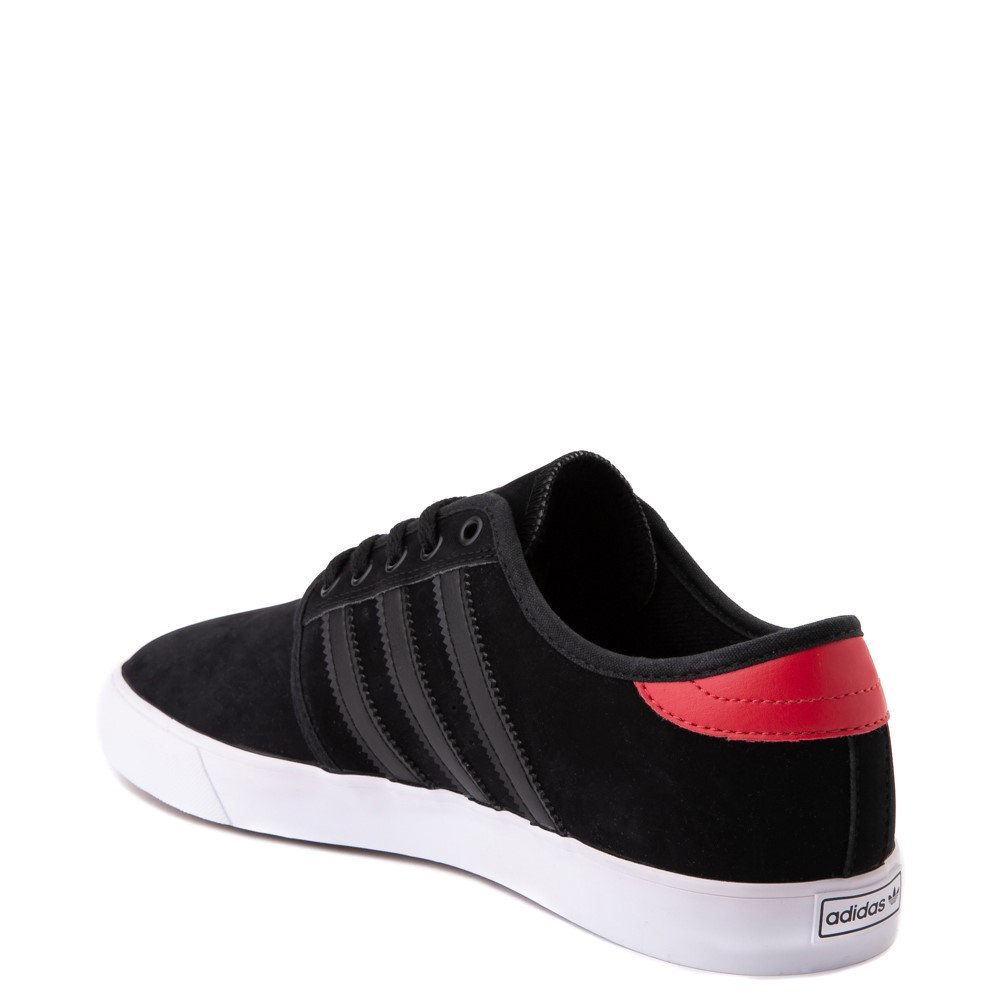 Mens adidas Seeley Skate Shoe - Black / Red