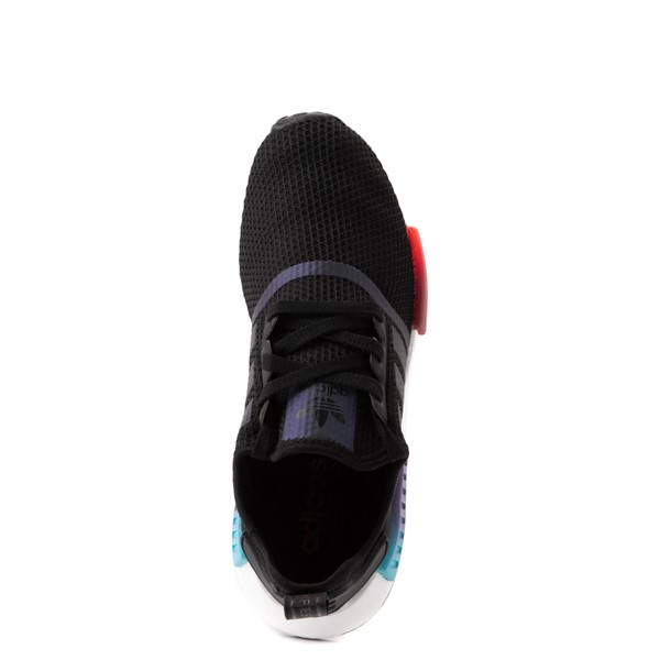 alternate view Mens adidas NMD R1 Athletic Shoe - Black / Red / BlueALT2