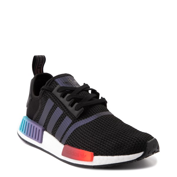 alternate view Mens adidas NMD R1 Athletic Shoe - Black / Red / BlueALT5