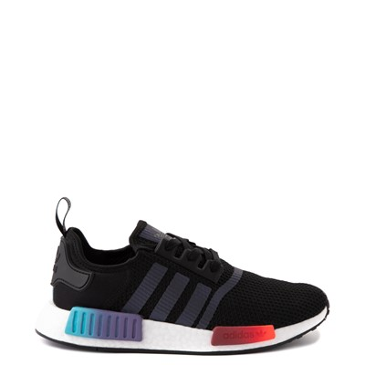 Main view of Mens adidas NMD R1 Athletic Shoe - Black / Red / Blue