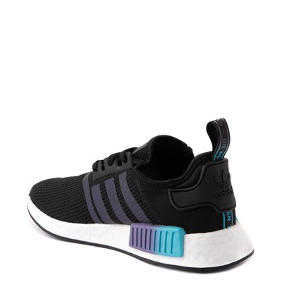 Alternate view of Mens adidas NMD R1 Athletic Shoe - Black / Red / Blue