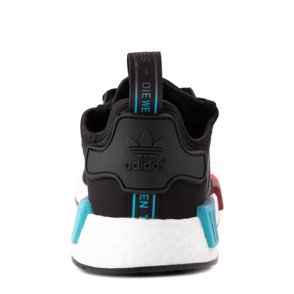 Mens adidas NMD R1 Athletic Shoe - Black / Red / Blue
