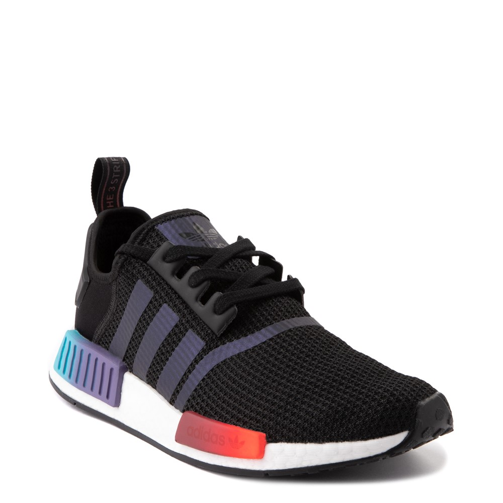 Mens Adidas Nmd R1 Athletic Shoe Black Red Blue Journeys