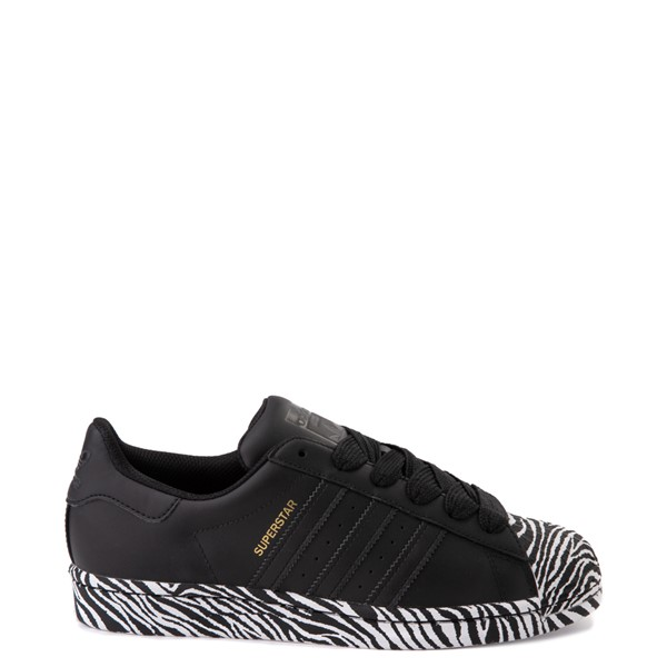 Womens adidas Superstar Athletic Shoe - Black / Zebra