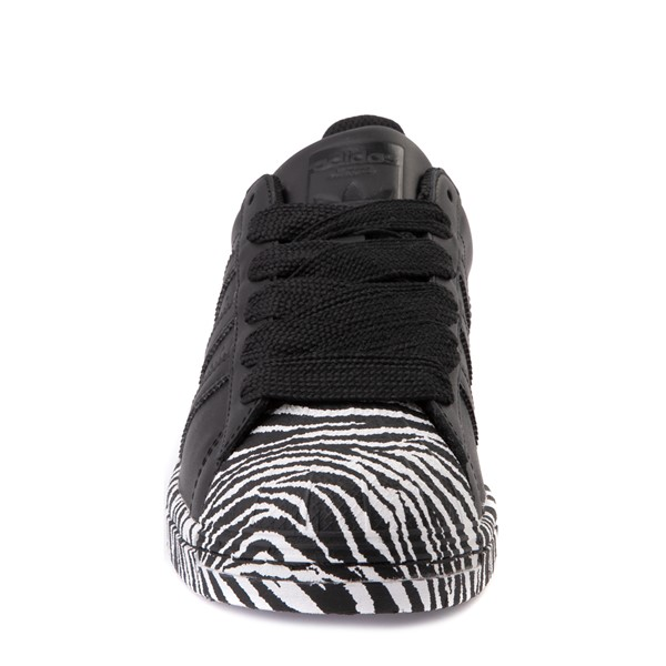 alternate view Womens adidas Superstar Athletic Shoe - Black / ZebraALT4