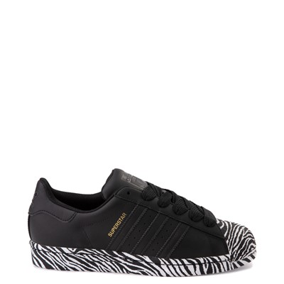 Main view of Womens adidas Superstar Athletic Shoe - Black / Zebra