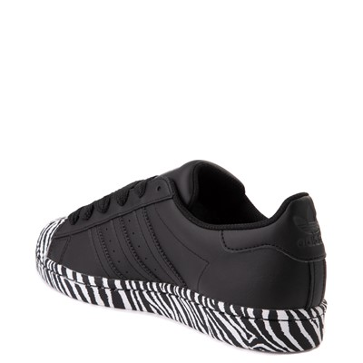 Alternate view of Womens adidas Superstar Athletic Shoe - Black / Zebra